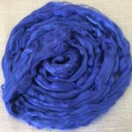 Blue Dyed Bamboo Combed Top Roving