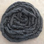 Charcoal Black Dyed Bamboo Combed Top Roving