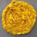 Sunshine Yellow Dyed Bamboo Combed Top Roving