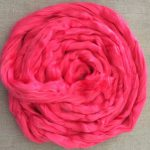 Hot Pink Dyed Bamboo Combed Top Roving