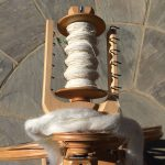 Spinning Bleached Flax