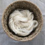Handspun Bleached Flax Linen Yarn