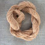Birch Bark Dyed Flax