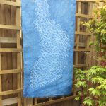Shibori Dyed Linen Shawl Indigo