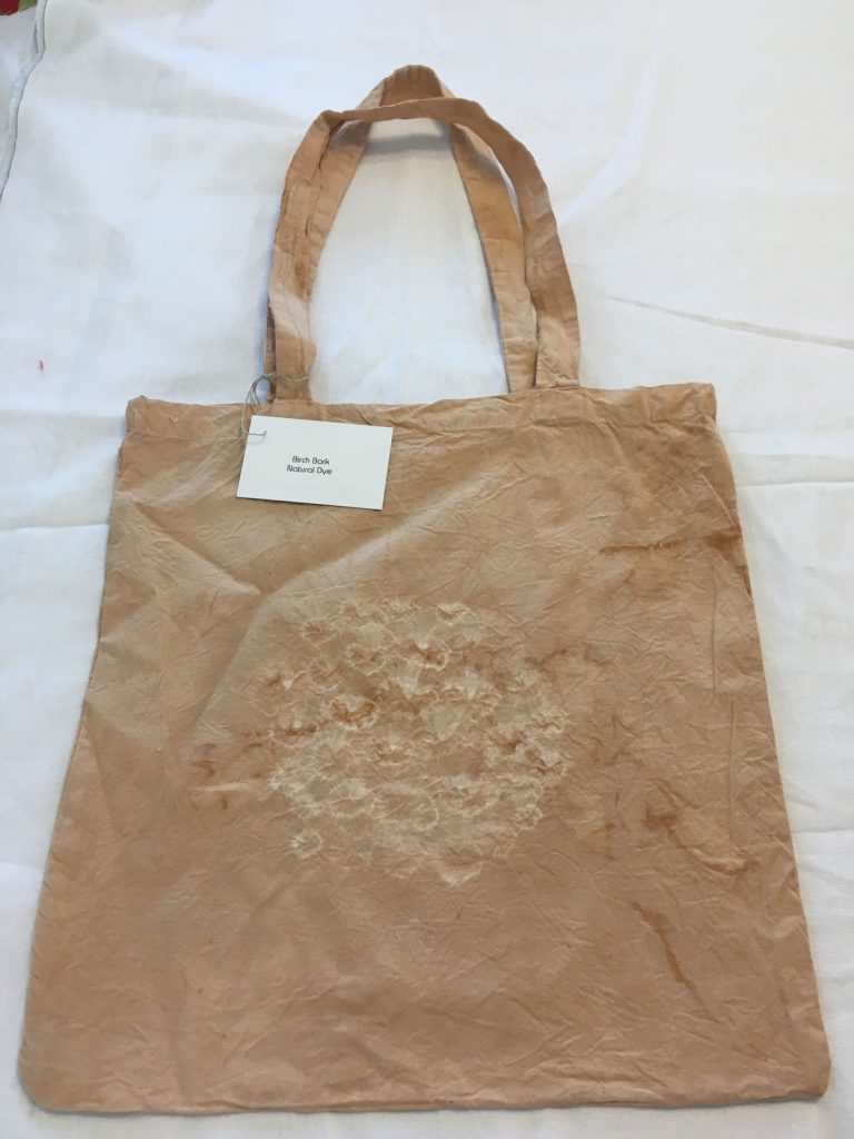 Birch Bark Dyed Tote Bag 2