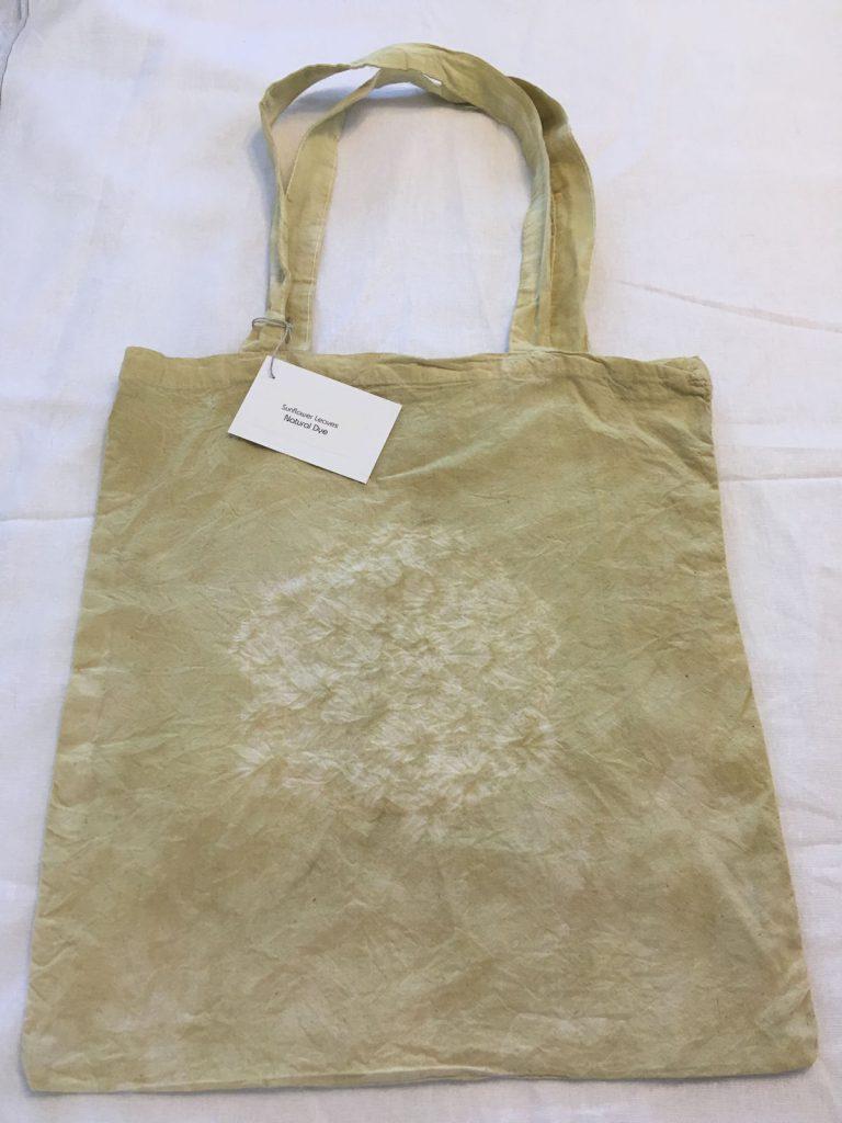 Sunflower Leaf Dyed Tote Bag 1