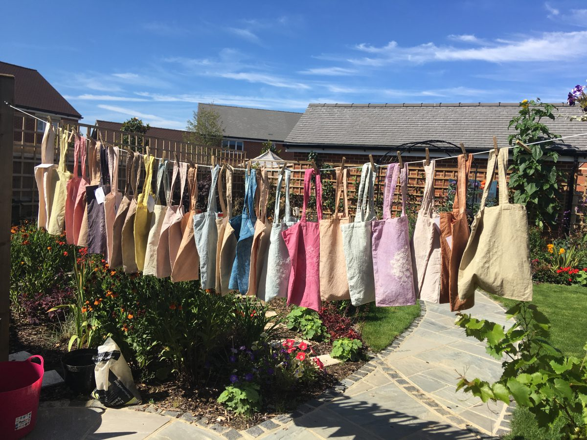 Flora Dyed Tote Bags